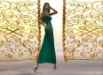 #b Kimmy Emerald Bandage Dress5_001